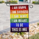 LGBTQ THIS IS ME Gay Pride Garden Banner