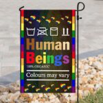 Human Being Gay Pride Flag and Garden Banner