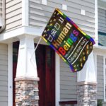 Gay Pride Human Flag and Garden Banner