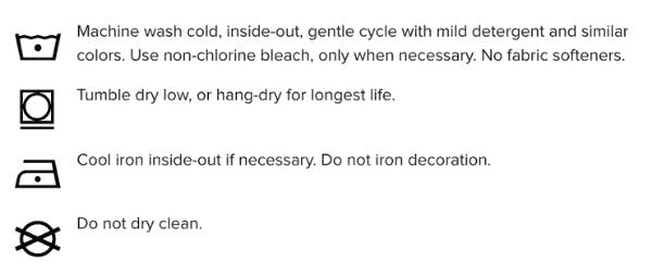 Care Instructions Printful