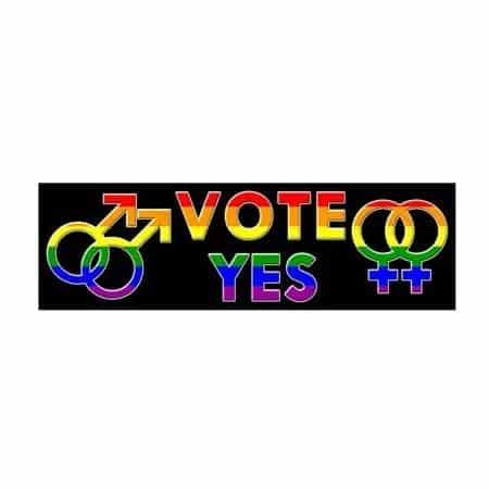 LGBTQ Rainbow VOTE Sticker
