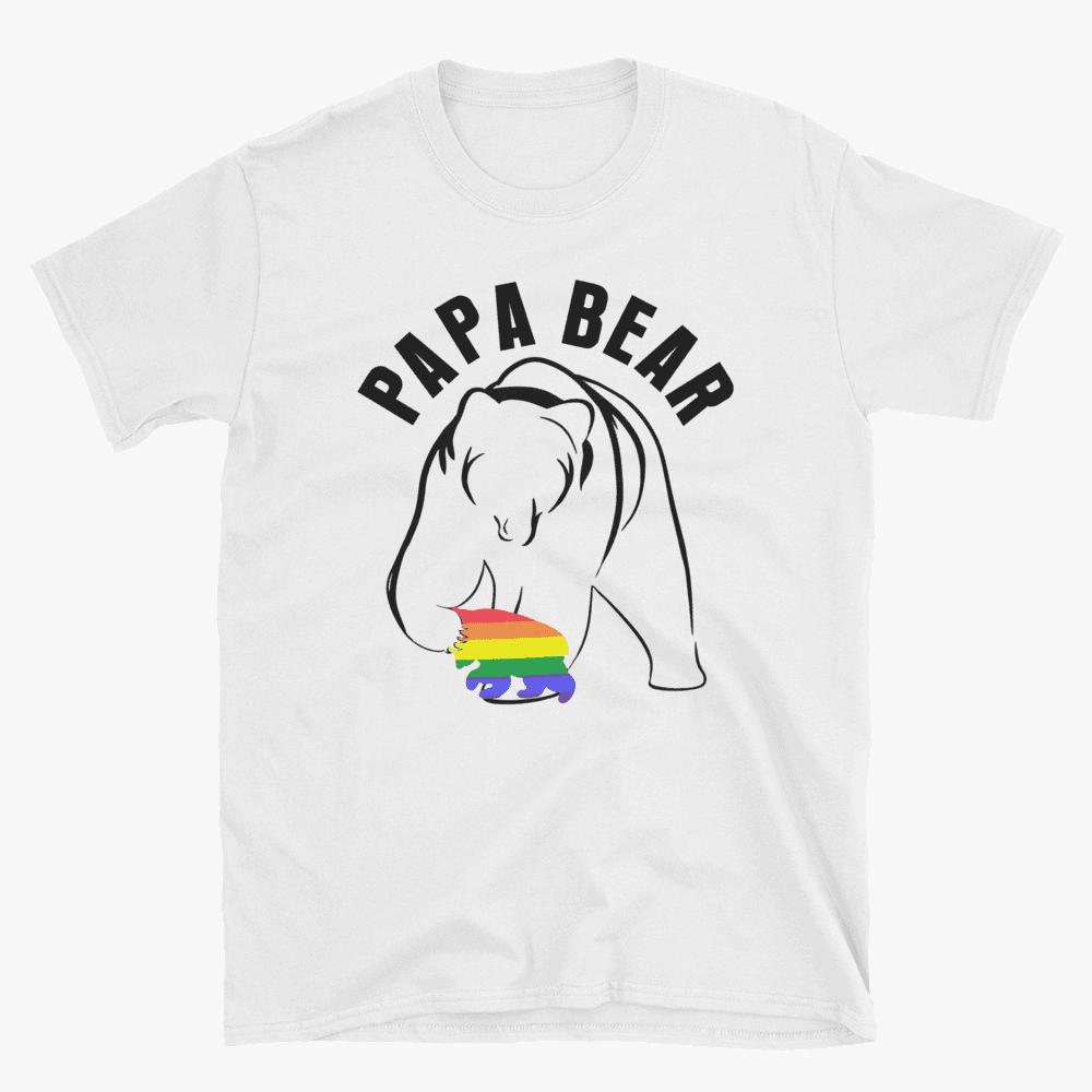 Papa Bear and gay child tshirt white