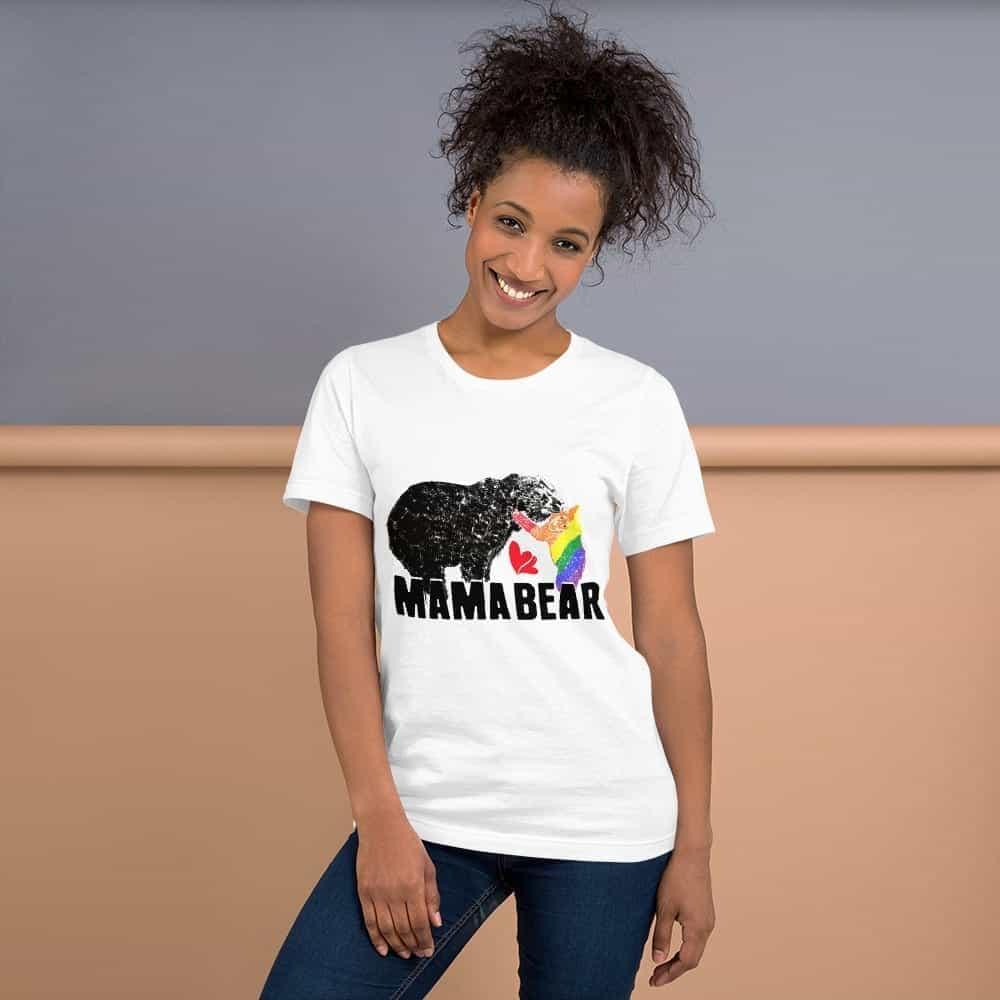 mama bear gay baby unisex tshirt white