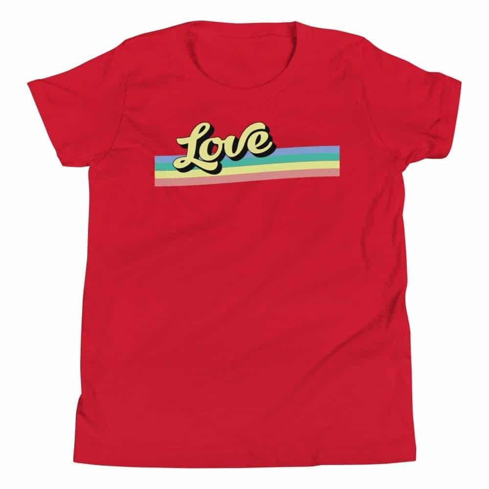 LGBTQ Pride Kids Tshirt Retro Love