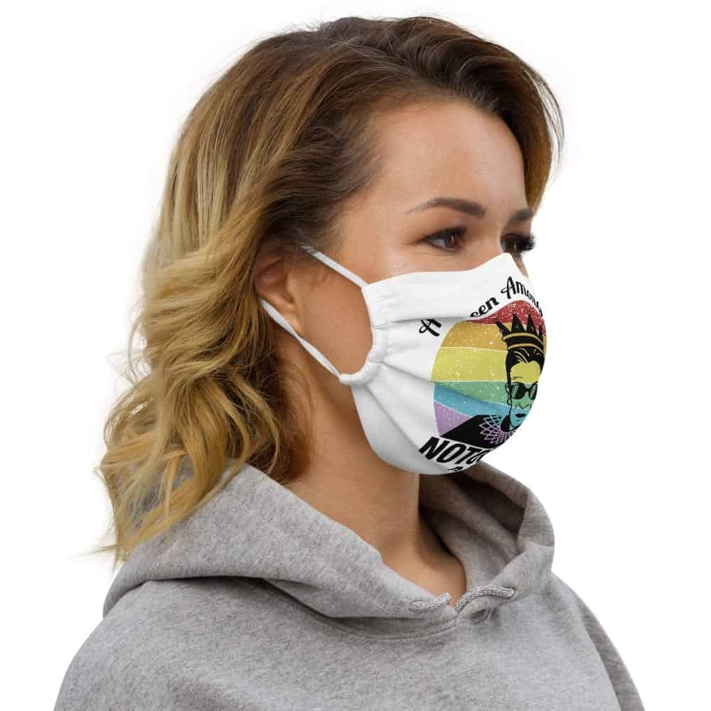 Notorious Queen RBG Pride LGBT Face Mask
