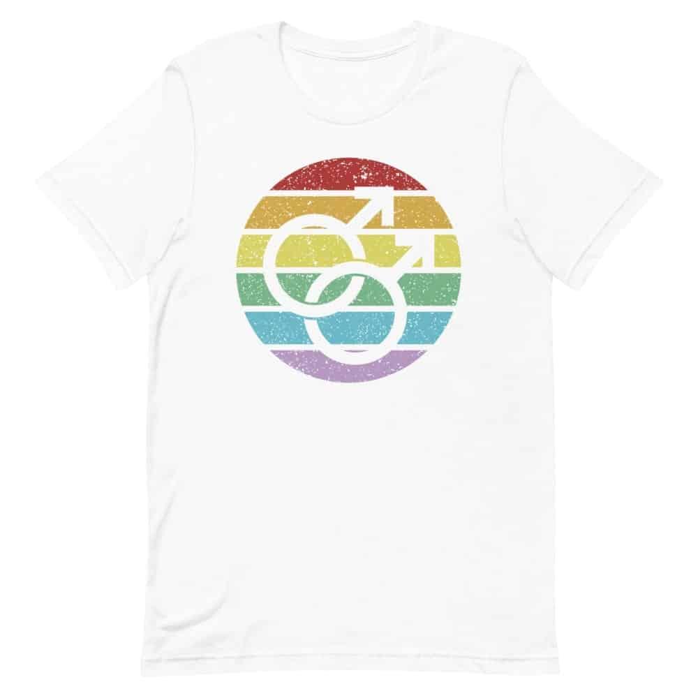LGBT Retro Gay Male Symbol Tshirt