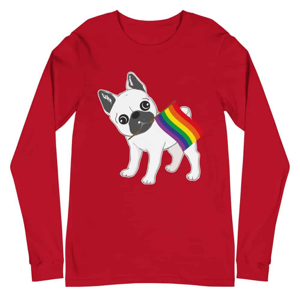French Bull Dog Pride Long Sleeve Tshirt