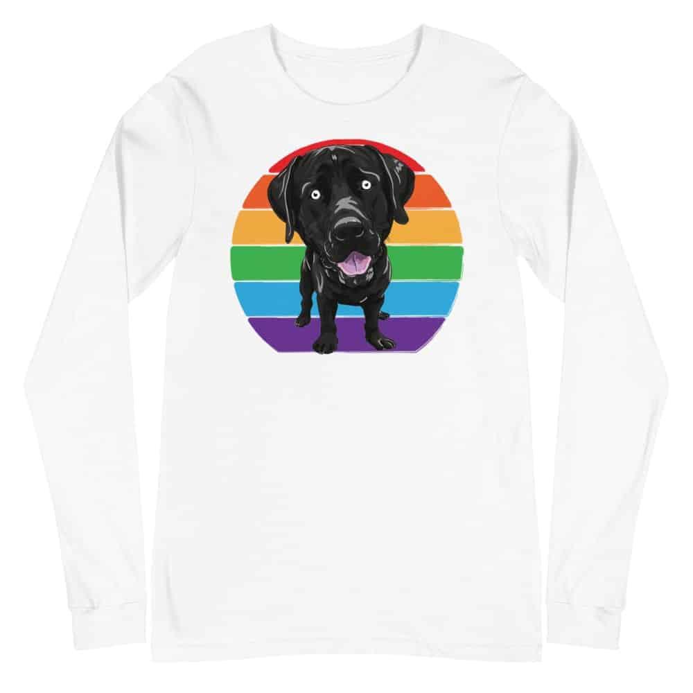 Labrador Love LGBT Pride Long Sleeve Tshirt