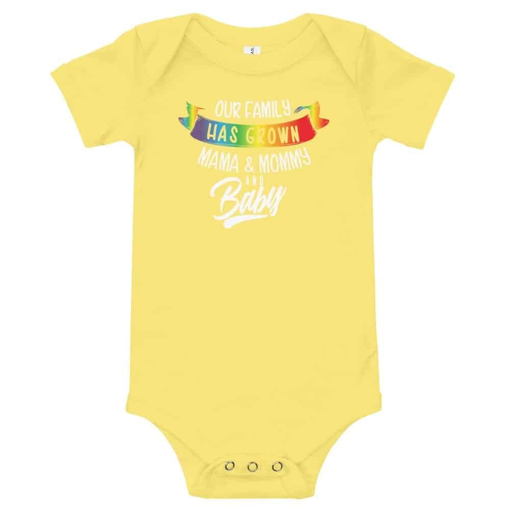 Gay Pride Mom Mommy & New Baby Bodysuit