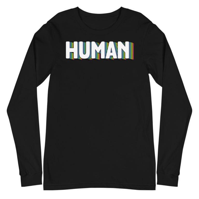 Human LGBT Pride Long Sleeve Tshirt