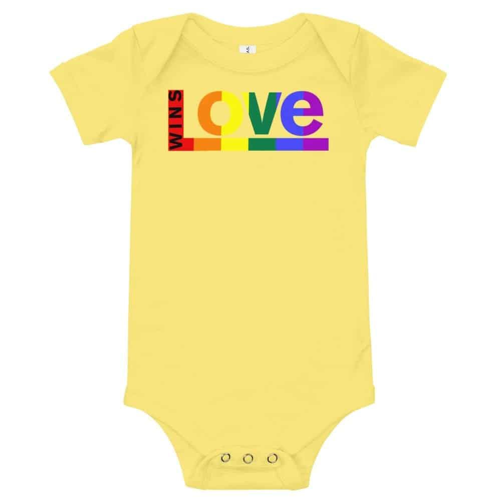 Love Wins! One piece Baby Bodysuit Yellow