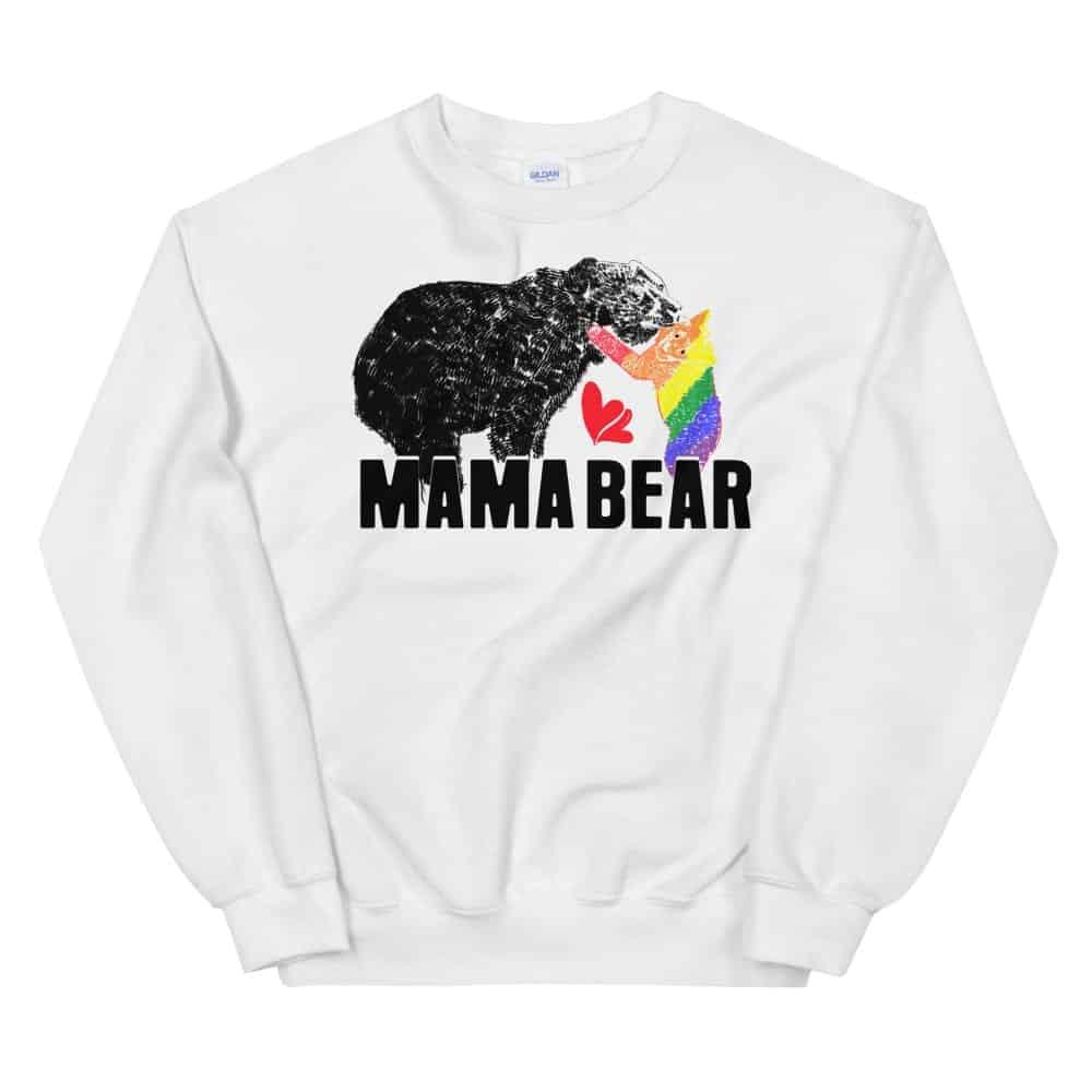 Mama Bear Gay Child Pride Sweatshirt White