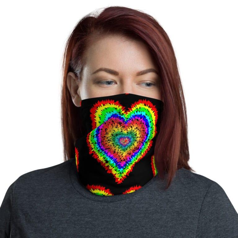 Rainbow Tie Dye Neck Gaiter