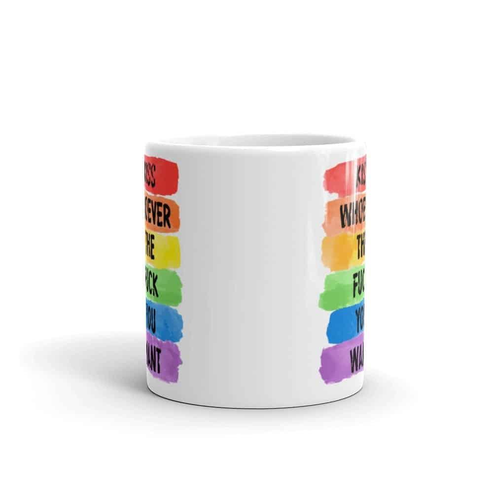 Kiss Whoever Pride LGBT Coffee Mug