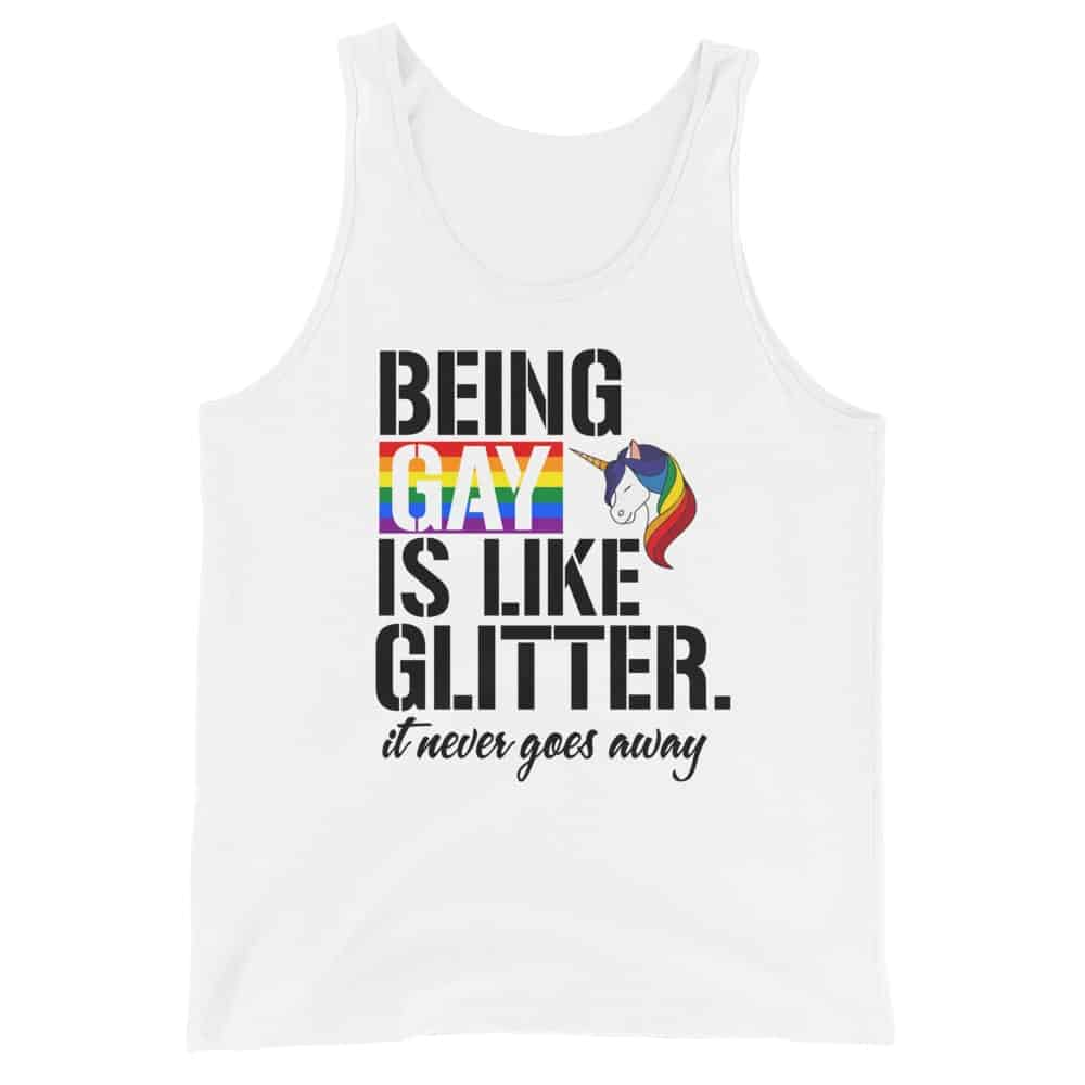 Being Gay Is Like Glitter LGBTQ Tank Top