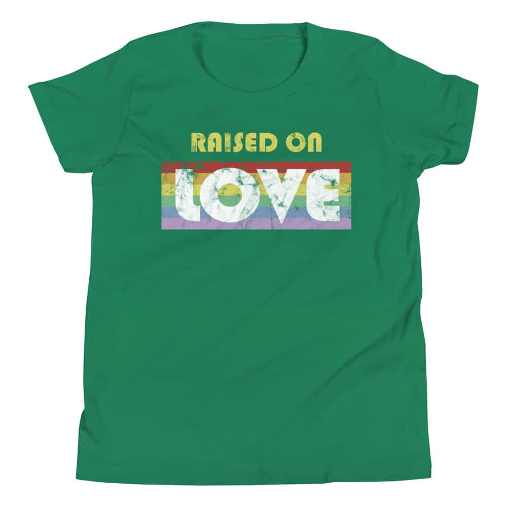 Raised on Love Gay Pride Kid Tshirt