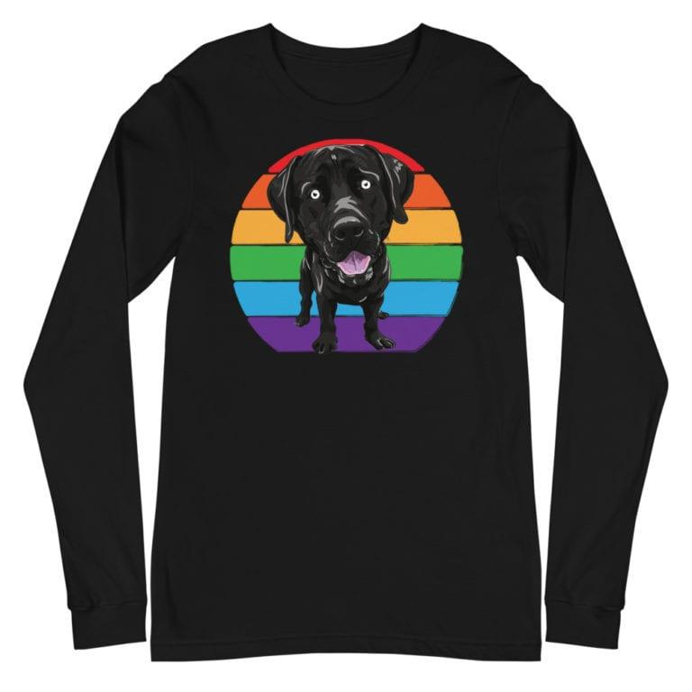 Labrador Love LGBTQ Pride Long Sleeve Tshirt