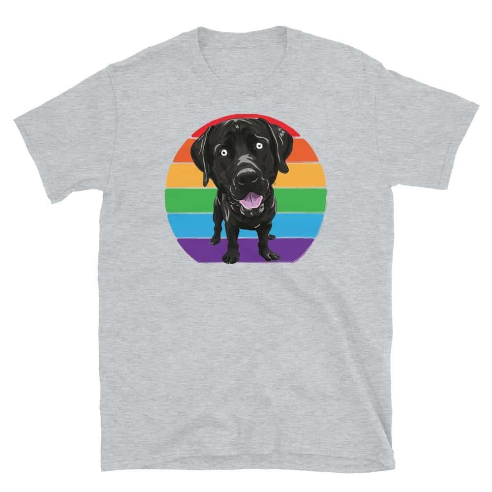 Gay Pride LGBTQ Labrador Tshirt