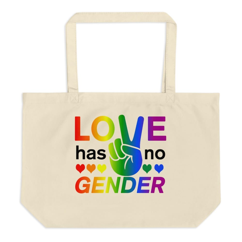 Love Has No Gender Large Tote Bag
