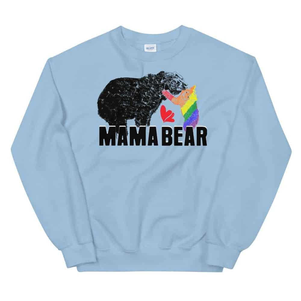 Mama Bear Gay Child Pride Sweatshirt Blue
