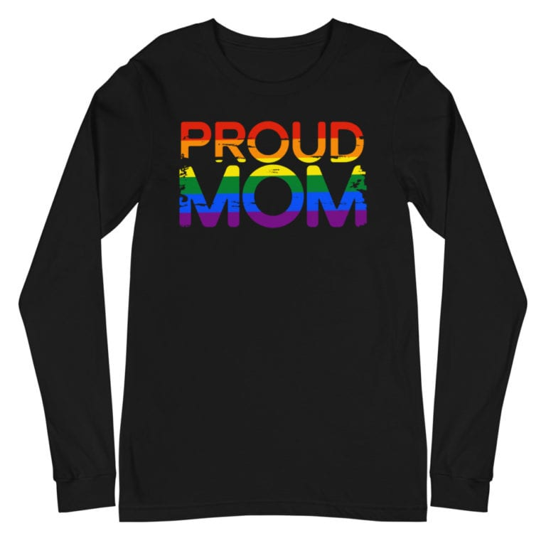 LGBTQ Pride Proud Mom Long Sleeve Tshirt