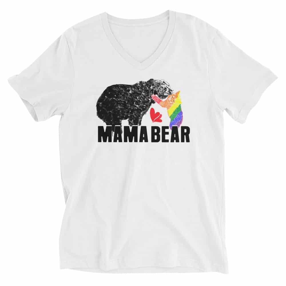 Mama Bear Gay Child Vneck Tshit