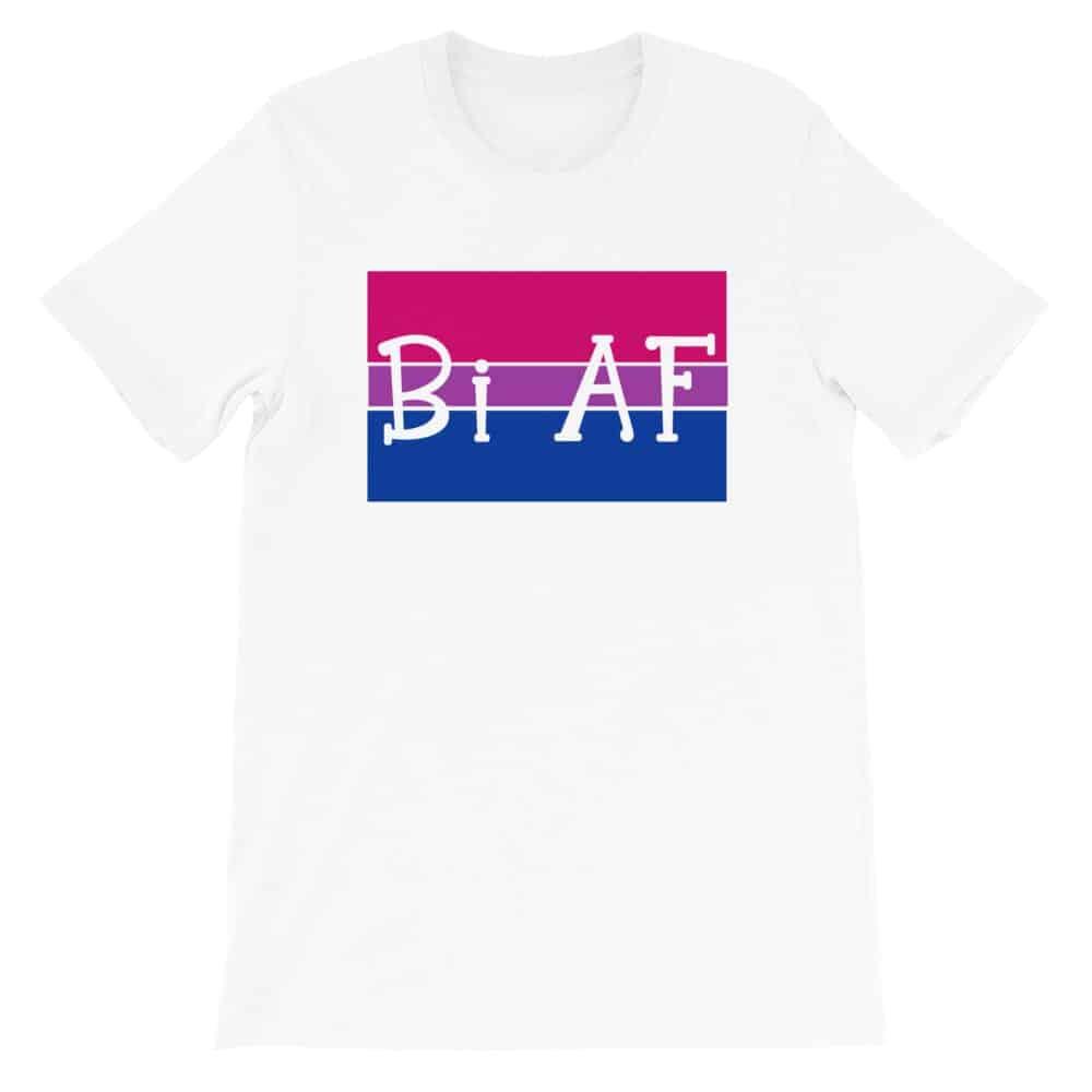 Bi AF LGBTQ Pride Tshirt White