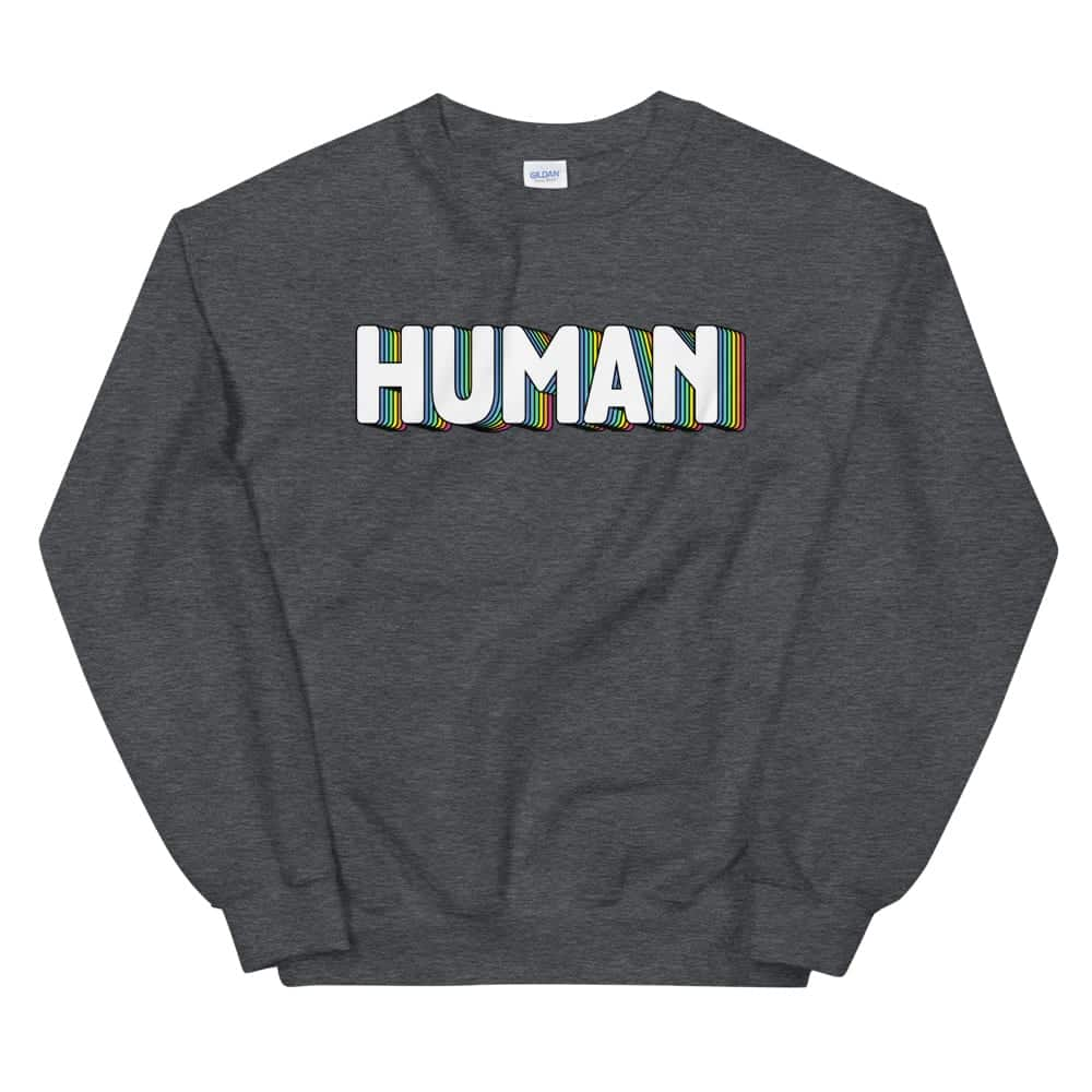 LGBTQ Pride Human Sweatshirt