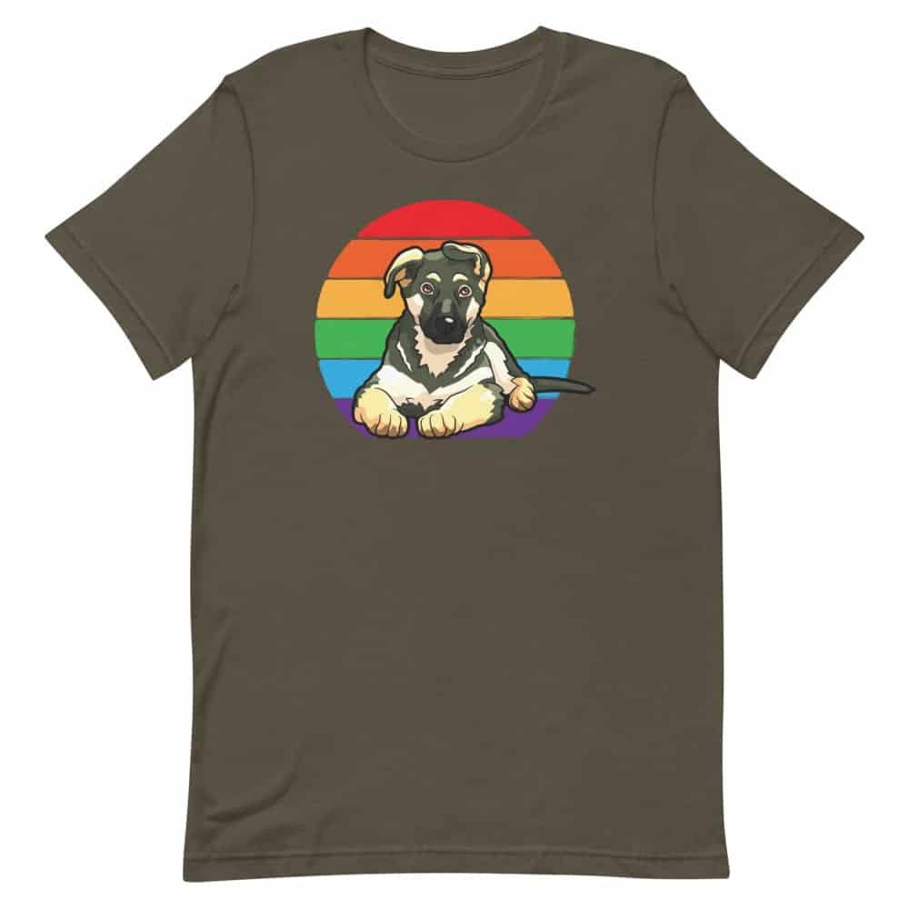 LGBT German Shepherd Tshirt