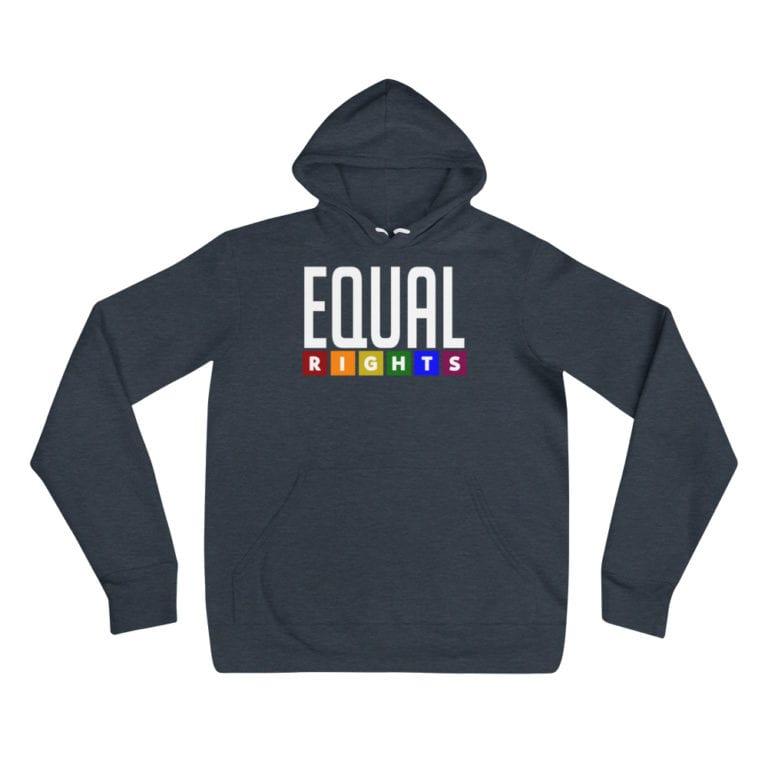 EQUAL RIGHTS LGBTQ Lightweight Hoodie Navy