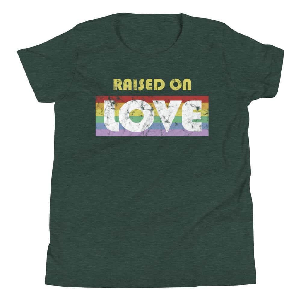 Raised on Love Pride Kid Tshirt