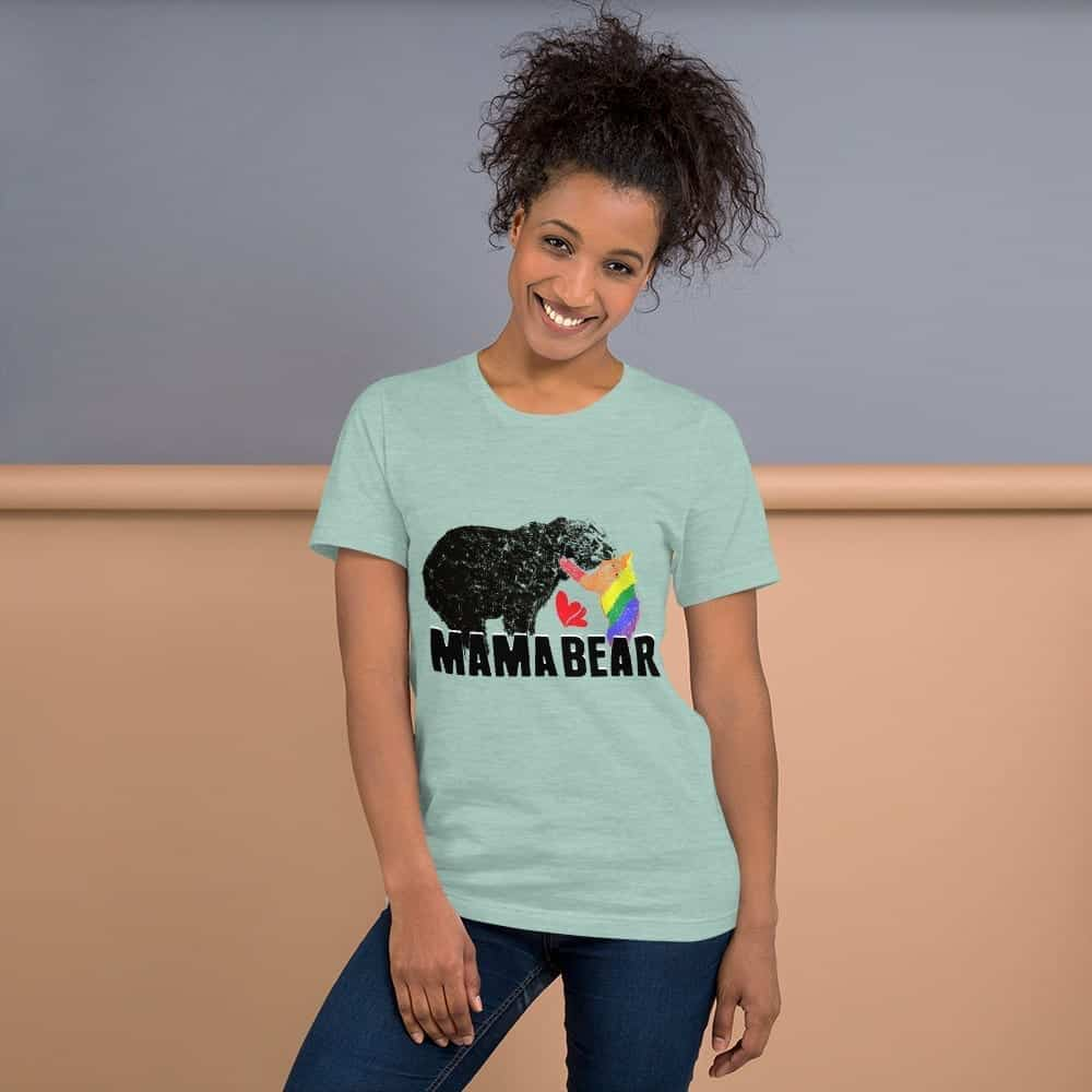 mama bear gay baby unisex tshirt dusy prism mint