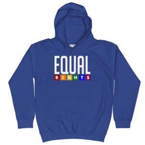 Equal Rights Pride Kid Hoodie Blue