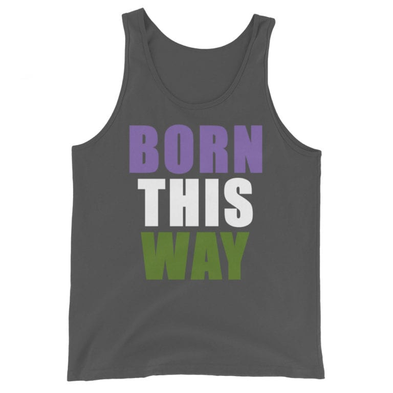 Born This Way Genderqueer Pride Tank Top