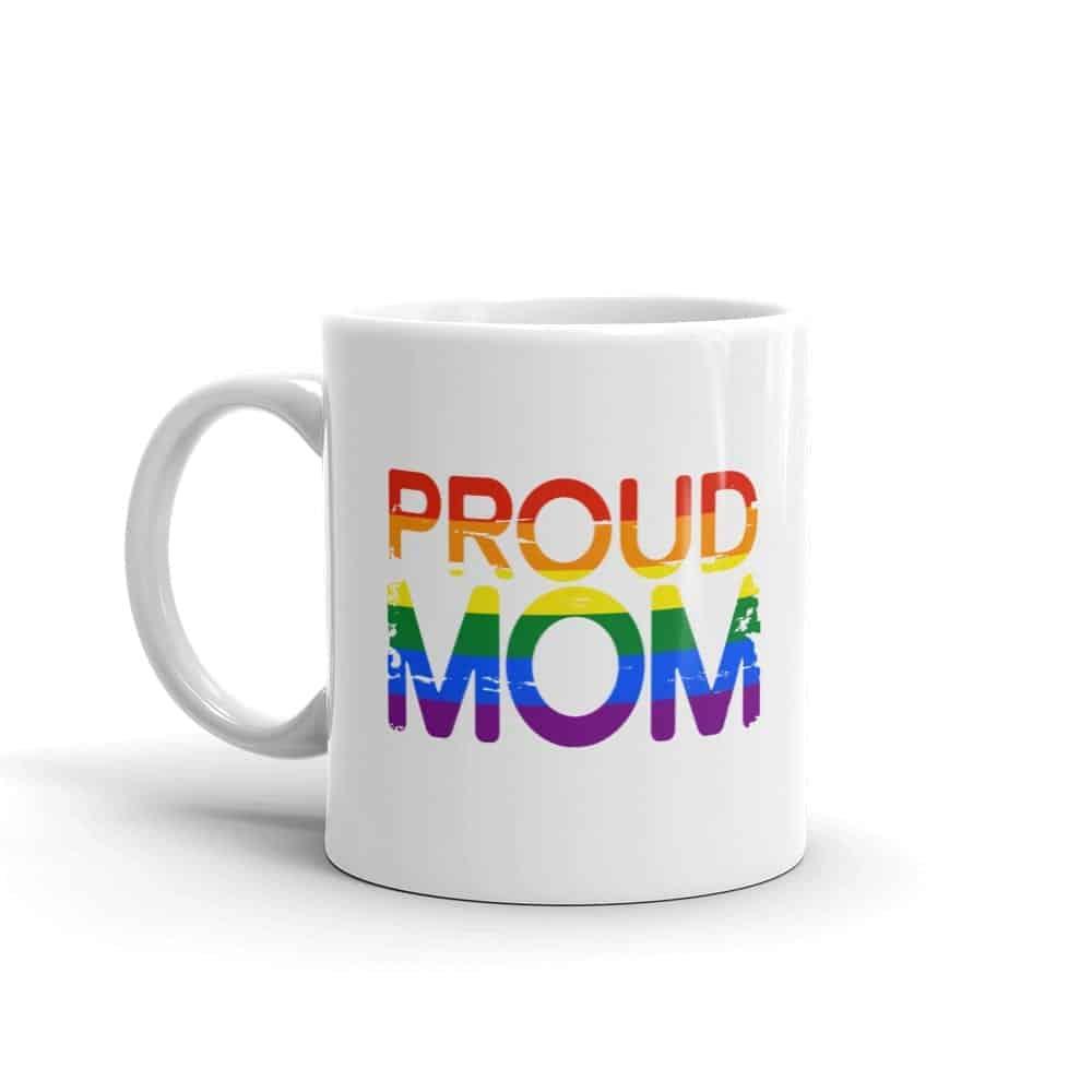 Proud Mom Gay Pride Coffee Mug