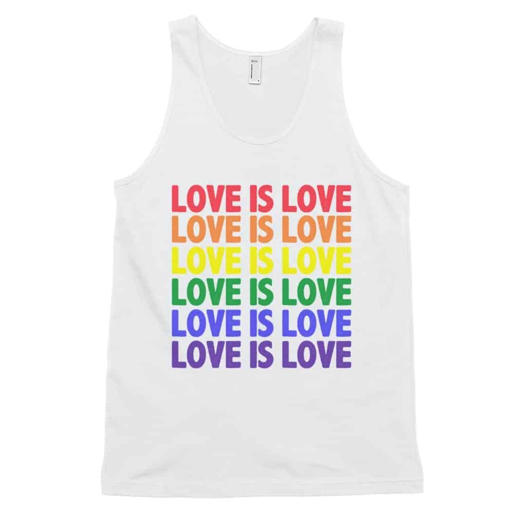 Love is Love Tank Top White