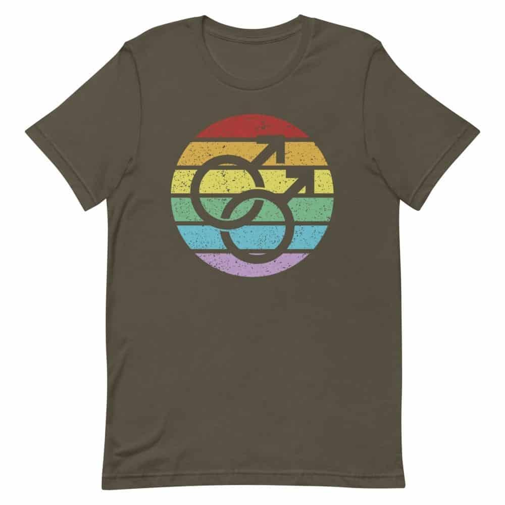 Retro Gay Male Symbol Pride Tshirt
