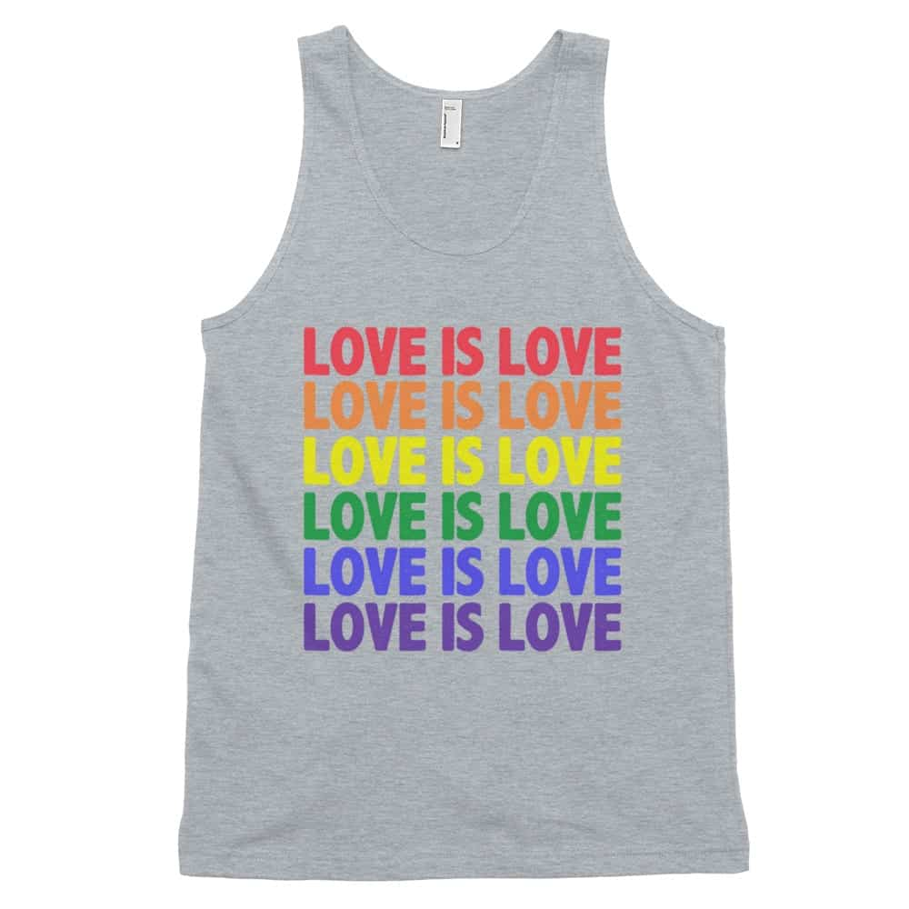 Love is Love Tank Top Grey