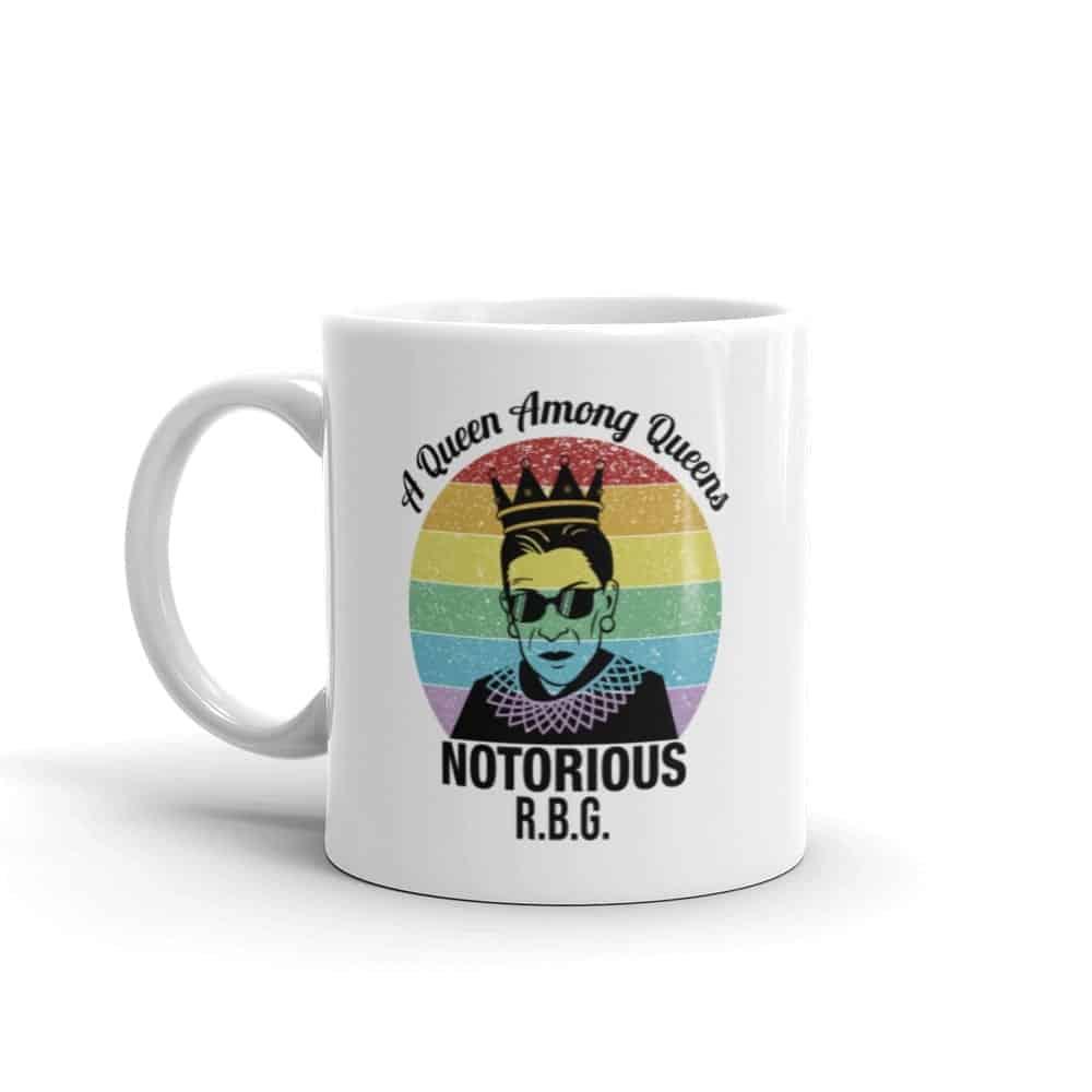 Notorious Queen RBG Gay Pride Coffee Mug