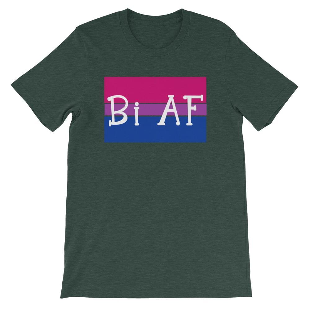 Bi AF LGBTQ Pride Tshirt forest