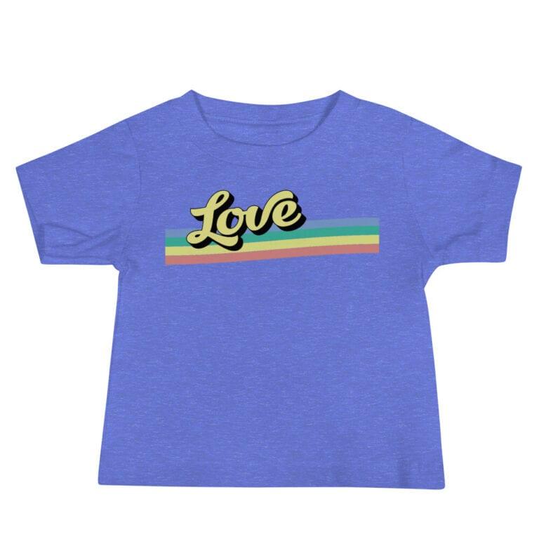 Retro Love Baby Pride Tshirt
