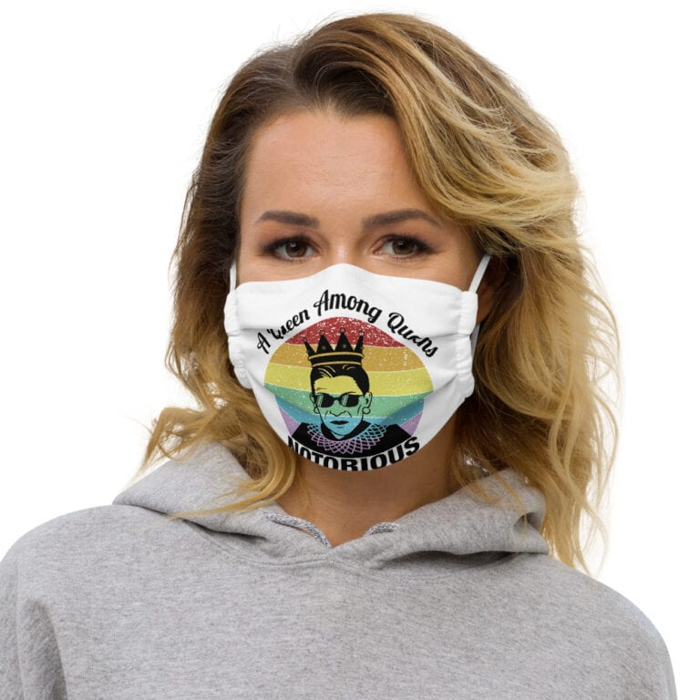 Notorious Queen RBG Pride Face Mask