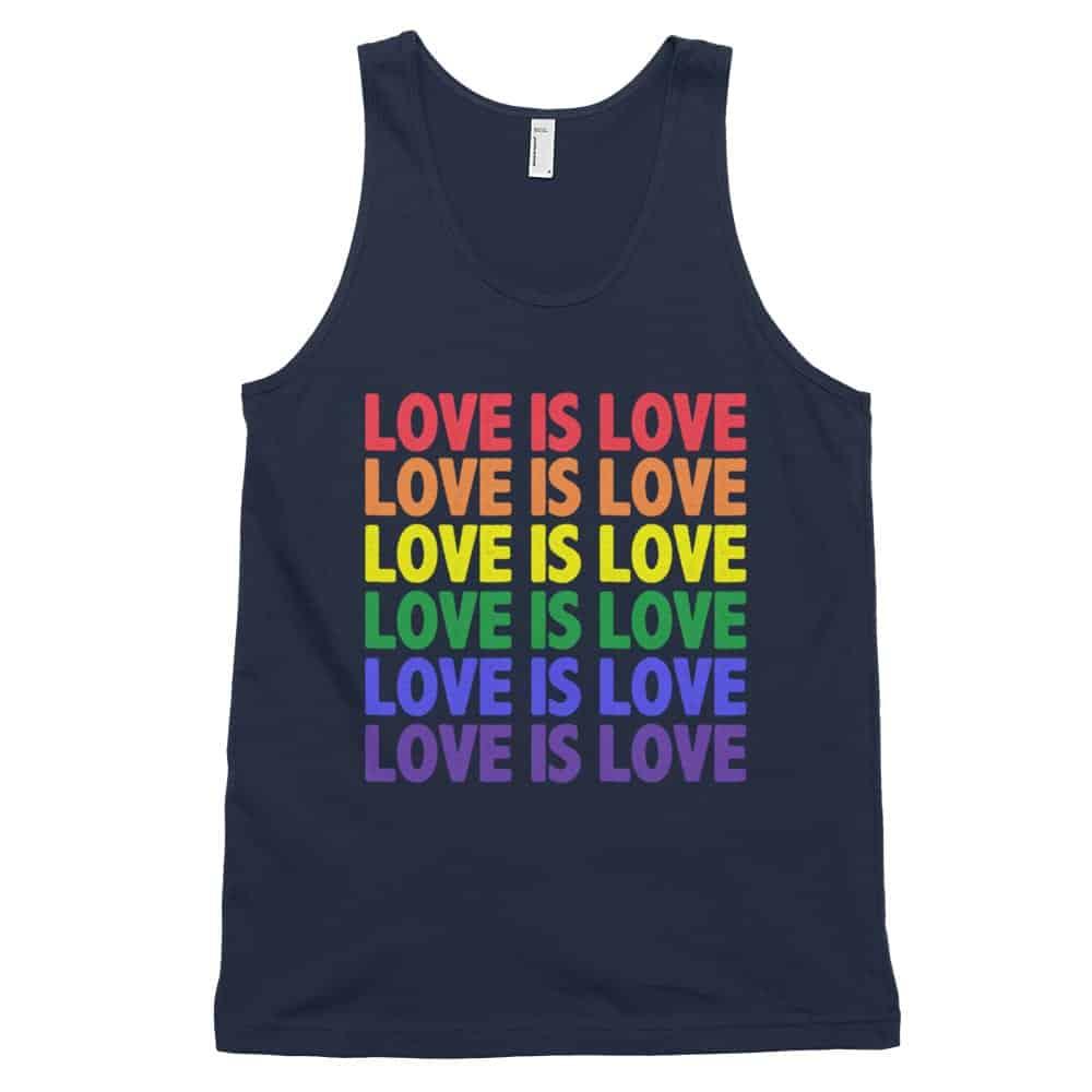Love is Love Tank Top Black