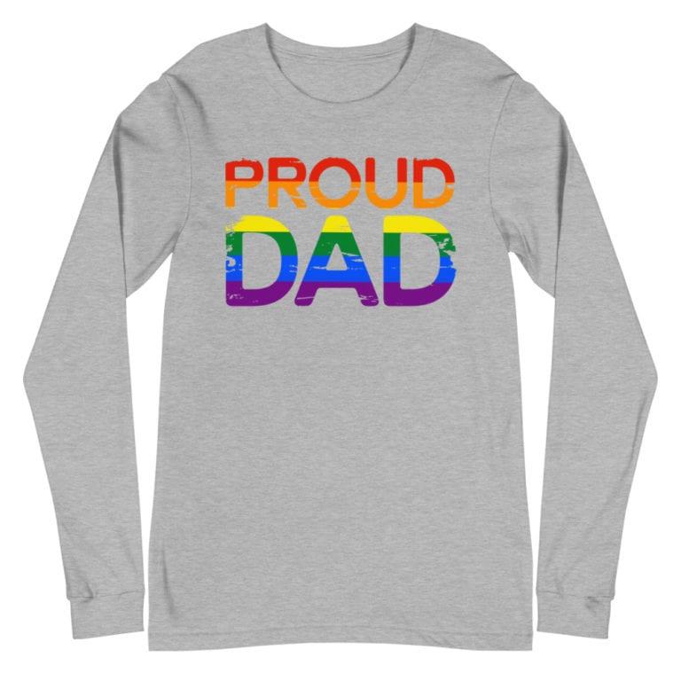 Proud Dad Rainbow Pride Long Sleeve Tshirt