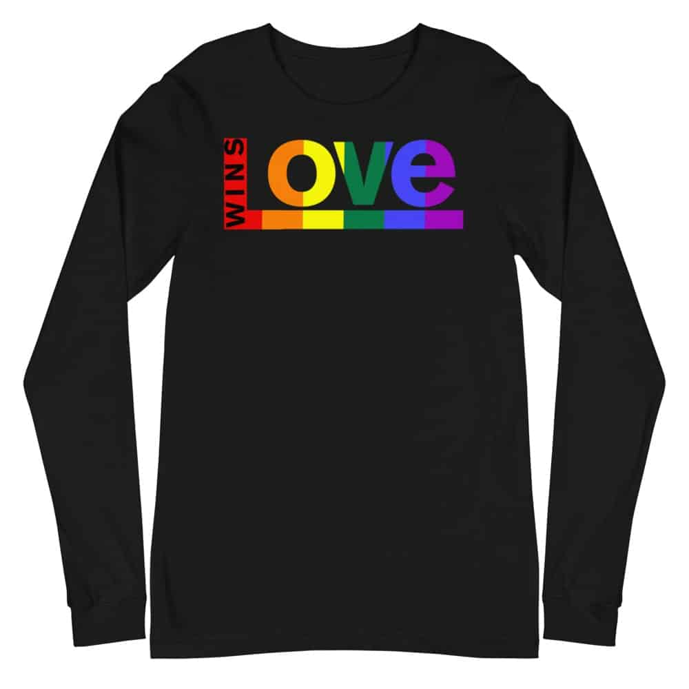 Love Wins LGBTQ Long Sleeve Tshirt Black