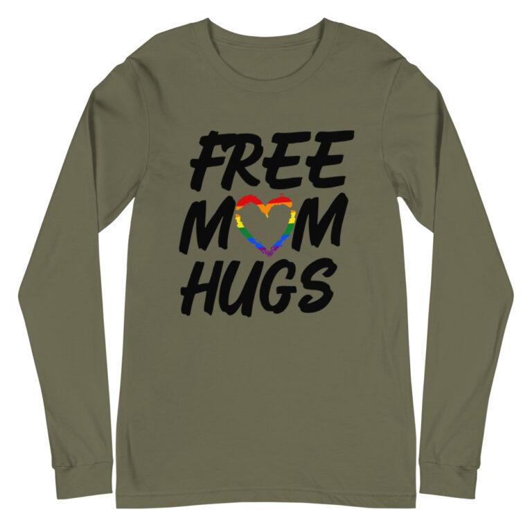 Free Mom Hugs Gay Pride Long Sleeve Tshirt