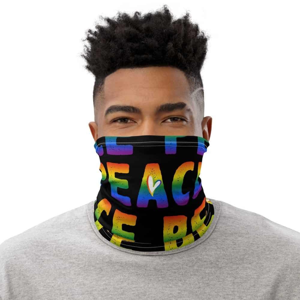 Gay Pride Rainbow PEACE Face Mask