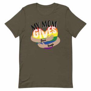 Mom Gives Free Hugs Gay Pride Shirt