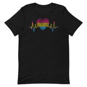Pansexual Heartbeat Pride Tshirt