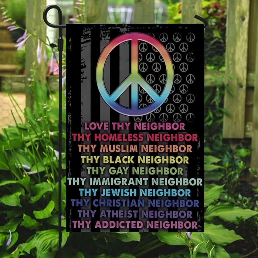 Rainbow Peace Be Kind GardenBanner